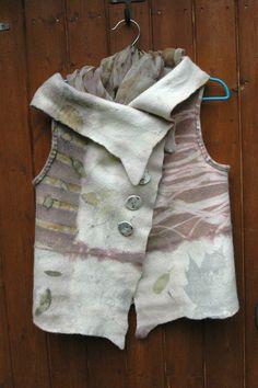 felt vest, eco dyed, Dutch maker inspired me to start doing eco dyeing