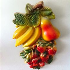 Bananas, Pear, Cherries, Strawberries