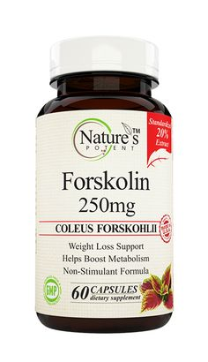 Nature's Potent Forskolin 250mg Weight loss Supplement can be a great support for your weight loss program. The herb naturally boosts metabolism, which increases the fat-burning rate.