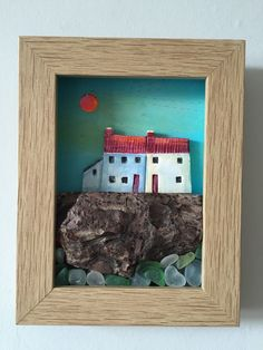 Coastal shadow box www.bridgetwilkinson.co.uk