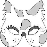 Katzen-Maske zum Ausmalen (ausdrucken erst)