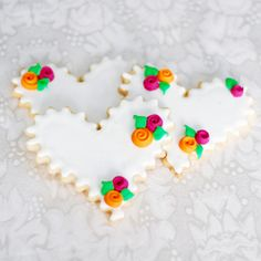 Pretty Heart Shaped Sugar Cookies...show your love !
