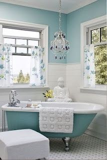 Would love a claw foot tub especially in blue.