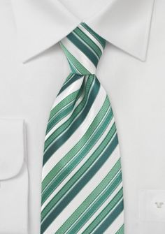 Herrenkrawatte Streifen-Dessin blassgrün