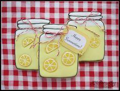 lemonade jar cookies. Full of great cookie decorating ideas!