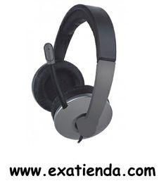 Ya disponible Auricular + mic Approx profesional gris oscuro    (por sólo 10.59 € IVA incluído):   - Cascos auriculares multimedia con diadema ajustable: para música, juegos, teléfono... Incluye micrófono integrado en brazo flexible, cancelación de ruido y 1,8m. de cable con control de volumen incorporado.  - Especificaciones técnicas - Diámetro altavoz: 40mm - Rango Frec: 2Hz-20KHz - Impedancia: 32 - Sensibilidad: 105dB - Longitud del cable: 1,8 m - Conector jack d