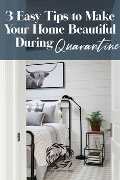 Easy tips on how to decorate your home during quarantine! These are our best decorating tips on a budget Cozy bedroom decor ideas Guest Bedroom Decor, Living Room Decor Cozy, Budget Bedroom, Guest Bedrooms, Cozy Bedroom, Bedroom Art, Decorating Your Home, Decorating Tips, Bedroom Night Stands