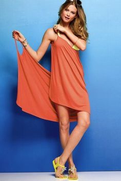 Women Sexy Spaghetti Strap V-Neck Cover-Up Beach Skirt Dress Bikini Swimwear