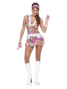 Check out Groovy Chic Adult Costume - Wholesale 60s Costumes for Women from Wholesale Halloween Costumes