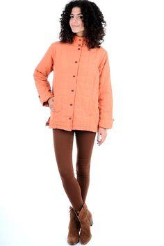 Orange Quilted Jacket