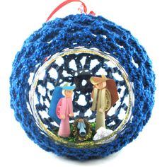 Christmas Tree Ornament Glass  Blue Ornament  by ColombiArts, $10.00