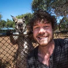アイルランドの写真家アラン・ディクソンさんは、動物との自撮りが大得意!
