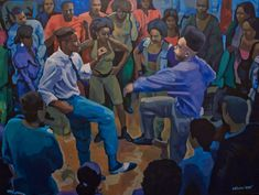 Painting: Kid N Play dance from House Party movie Black Artwork, Kids Artwork, African American Art, African Art, House Party Movie, Hiphop, Kid N Play, Black Art Pictures, Amazing Pictures