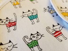 Cats In Bathing Suits Coaster Set by TheMillersHouse on Etsy