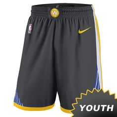 083a16e1 Golden State Warriors Nike Dri-FIT Youth 'The Town' Swingman Short - Grey. Official  Online ...