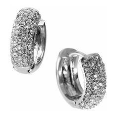 Michael Kors 'Spring Sparkle' Hoop Earrings ($75) ❤ liked on Polyvore