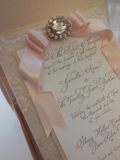 """""""Beloved"""" Wedding Invitation - featuring Grace Edmands Calligraphy by Embellishments Invitations xo Quince Invitations, Princess Invitations, Wedding Anniversary Invitations, Luxury Wedding Invitations, Wedding Invitation Design, Wedding Stationery, Wedding Fonts, Wedding Card Design, Wedding Cards"""