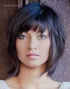 25 latest bob hairstyles with bangs 2017 hairstyle ideas women hairstyles Layered Bob Hairstyles bangs bob Frisuren Hairstyle hairstyles ideas Latest newest Women Thin Hair Cuts, Short Hair With Layers, Medium Hair Cuts, Medium Hair Styles, Short Hair Styles, Layered Bob With Bangs, Short Bobs With Bangs, Short Cuts, Choppy Bob With Bangs