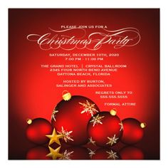 free christmas party invite template