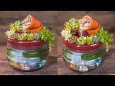 DIY   Easy Succulent Fountain from Plastic Bottle   Just Toolbox Idea - YouTube Recycle Plastic Bottles, Tool Box, Fountain, Easy Diy, Succulents, Planter Pots, Recycling, The Creator, Youtube