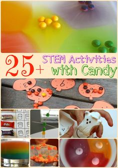 Make math, science, and engineering more interesting and fun by playing candy math games, experimenting with candy, and building complex candy structures!