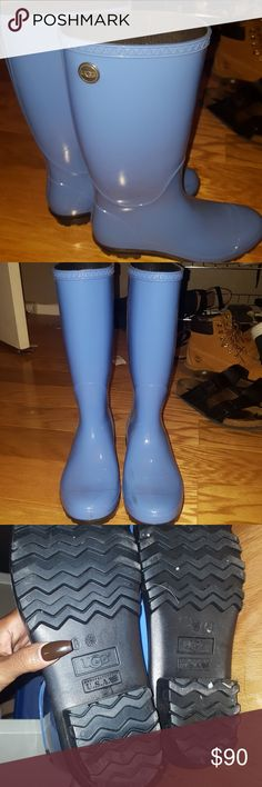 Ugg baby blue rainboots Quality boots only worn a few times UGG Shoes Winter & Rain Boots