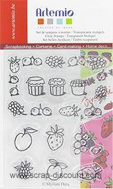 Artemio: clear stamps - Früchte