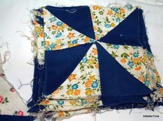 square quilt blocks via RetroRecycle