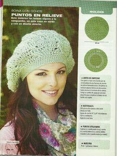 Website vol getekende patronen Crochet Beret, Crochet Cap, Crochet Cardigan Pattern, Cute Crochet, Crochet Scarves, Irish Crochet, Crochet Patterns, Sombrero A Crochet, Knitted Gloves