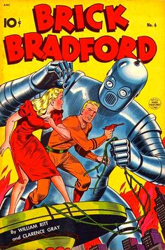 Brick Bradford, No. 6, This is a King Features Comics, 1948.