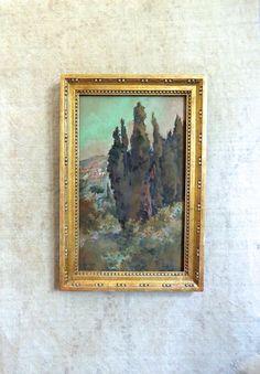 Antique Watercolor Painting Italian Scene by DuncanGrantAntiques