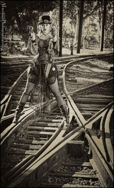 steampunk victorian | Steampunk/Victorian/Old Fashions / On the Tracks by Allen Freeman, via ...