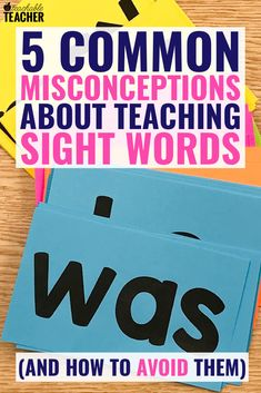 These 5 misconceptions can keep us from teaching sight words effectively in our classrooms. Read more about them and learn strategies to increase mastery. Preschool Sight Words, Teaching Sight Words, Sight Words List, Sight Word Activities, Teaching Phonics, Teaching Reading, Preschool Kindergarten, Guided Reading, Close Reading