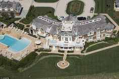 David Tepper bought his former boss's ocean-facing property in Sagaponack, New York, in 2010, and tore it down to build a much bigger mansion (pictured above, Tepper's completed Hamptons home)
