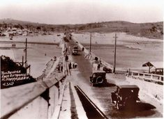 The North Narrabeen Bridge in the Northern Beaches region of Sydney in the Avalon Beach, Roaring Twenties, North Shore, Wall Street, Back In The Day, Aerial View, Historical Photos, Old Photos, 1920s