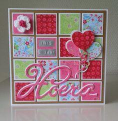 Annemarie's kaarten: Hoera Iris 3 jaar