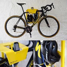 Always looking for your helmet, shoes, glasses, etc. A smart and stylish wall mounted bike storage for hanging your road bike and cycling gear on the wall. Cycling Gear, Road Cycling, Mountain Bicycle, Mountain Biking, Wall Mounted Bike Storage, Tole Pliée, Specialized Mountain Bikes, Bike Wall Mount, Bike Hanger