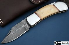 GCrafter Damascus Folding Knife 7.5 inches
