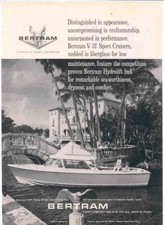 Bertram boat history and fishing boat for sale