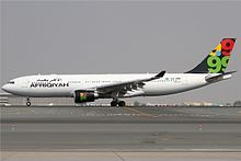 Afriqiyah Airways is an airline based in Tripoli, Libya. Before the Libyan civil war it operated domestic services between Tripoli and Benghazi and international scheduled services to over 25 countries in Europe, Africa, Asia, and the Middle East; since the war it is trying to rebuild its business and repair damaged aircraft.