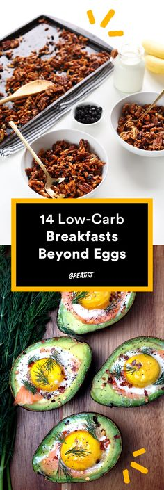 Cutting back on carbs doesn't mean you can't eat bagels, oatmeal, or pancakes.   #lowcarb #breakfast #recipes http://greatist.com/eat/low-carb-recipes-easy-and-delicious-breakfast-recipes