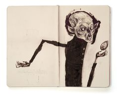 Sketchbook 2 by Lars Henkel, via Behance