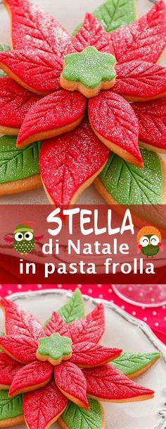 Stella di Natale di pasta frolla Christmas Decorations For Kids, Christmas Sweets, Christmas Baking, Christmas Cookies, Christmas In Italy, Christmas Time, Cupcakes, Cupcake Cakes, Hot Chocolate Cookies