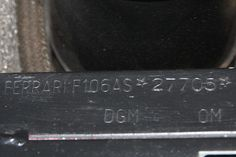 1979 Ferrari 308 GTS Serial Number 27705-Chassis number stamping