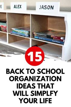 If you are looking for ideas how can I get organized for back to school? These back to school organization ideas will make your life easier. Check out these clever and useful Back to School Organization Ideas for kids. #backtoschool #organizationdiy #homeschool Back To School Organization, Home Organization Hacks, Organizing Your Home, Hanging Storage, Diy Storage, Storage Ideas, Chalkboard Wall Calendars, Back To School Lunch Ideas, Old Kitchen Cabinets