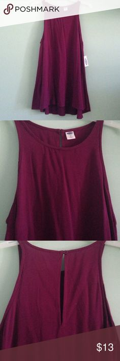 New Pretty top Fuchsia colored, nwt old navy Old Navy Tops Tank Tops