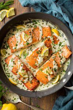 Creamy Salmon Piccata