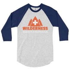 Wilderness Search and Rescue 3/4 sleeve raglan shirt