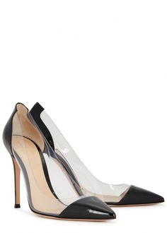 2433790374f Gianvito Rossi Plexi 105 leather and Perspex pumps - Harvey Nichols