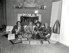The Foursome and Their Awards (Desi Arnaz, Vivian Vance, Lucille Ball, William…